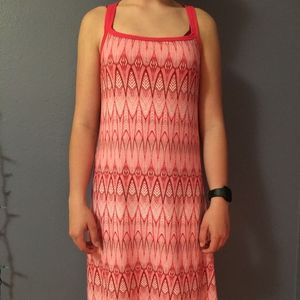 Prana Pink Strappy Patterned Dress